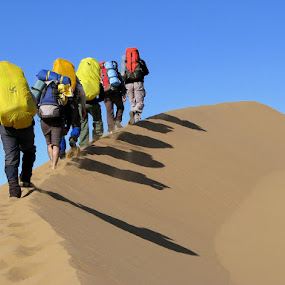 Desert Hiking II by Hamed Ghalandar - Sports & Fitness Other Sports ( iran, desert, rig e jen )