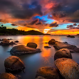Colorful when sunset by Dany Fachry - Landscapes Beaches