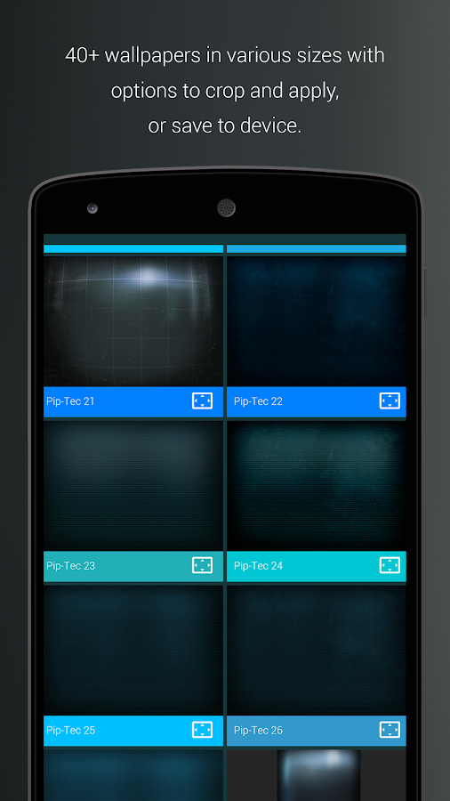 Pip-Tec Blue Icons & Live Wall Screenshot 5