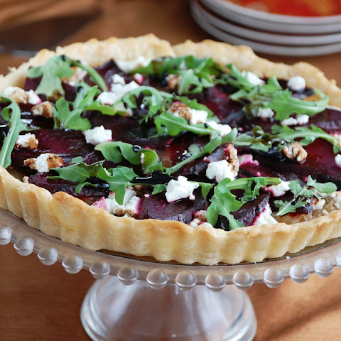 Roasted Beet, Caramelized Onion and Goat Cheese Tart
