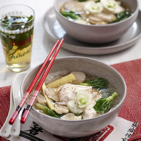 Poached Chicken Noodle Soup