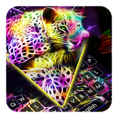Hologram Leopard Keyboard Icon