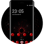 Cool Dark Red Tech Theme for Lenovo K8 Note