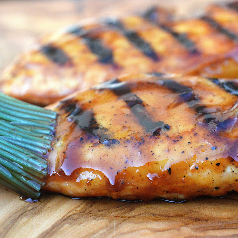 Honey Bourbon BBQ Grilled Chicken