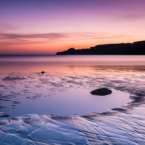 Runswick Bay Sunrise by Darren Whiteley - Landscapes Beaches ( north yorkshire, long exposure, beach, sunrise, colours,  )