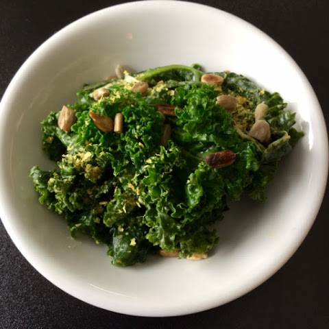 Steamed Kale with Tahini Dressing