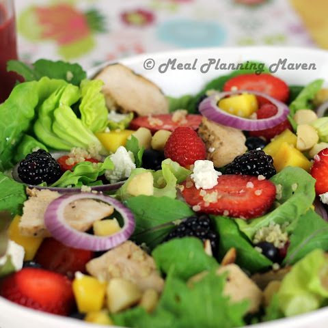 Grilled Chicken Salad with Berry-Balsamic Vinaigrette