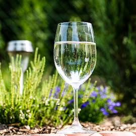 by Ralf Harimau Weinand - Food & Drink Alcohol & Drinks ( saarland, deutschland, hilbringen, germany, spiegelung, blume, garten, glas, merzig )