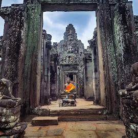 Zen by Tony Milos - Nature Up Close Rock & Stone ( religion, anhkog wat, peace, buddha, cambodia )