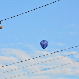 Floating away by Thomas Fitzrandolph - Transportation Other ( flight, aircraft, niagara county ny, nikon d5200, balloons, lockport ny )
