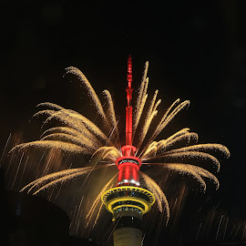 skytower by Johan Koch - Abstract Fire & Fireworks ( skytower )