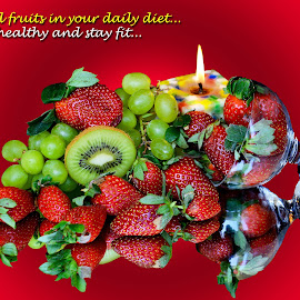 Add fruits... by Asif Bora - Typography Quotes & Sentences