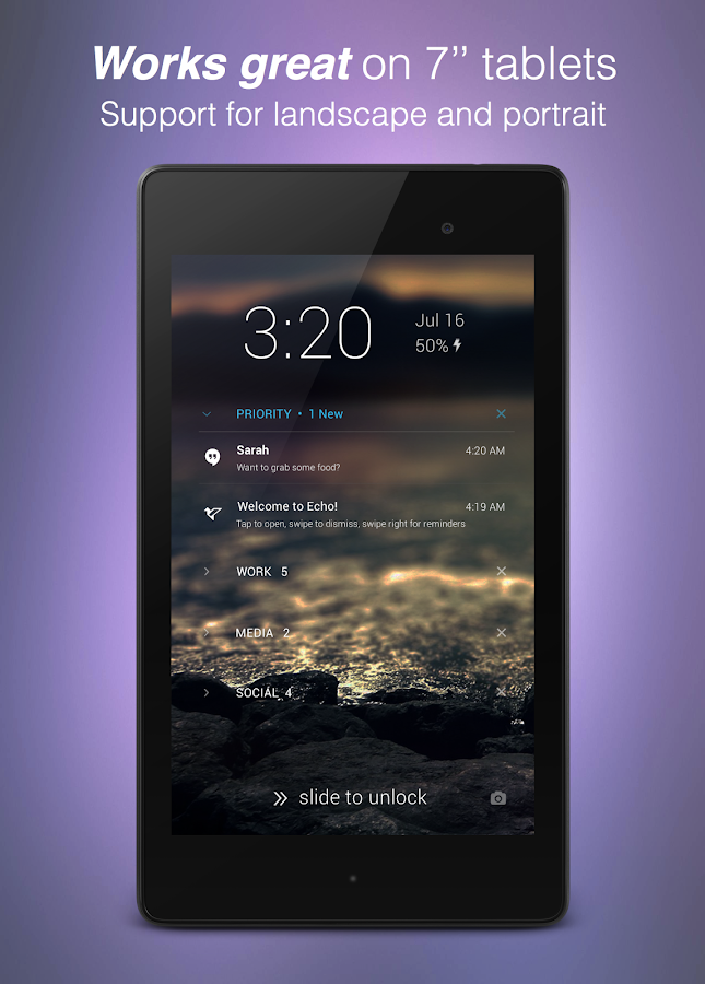 Echo Notification Lockscreen Screenshot 10