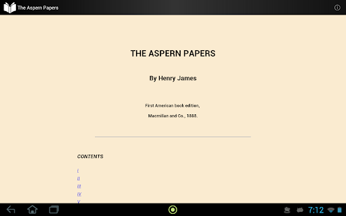 The Aspern Papers - screenshot