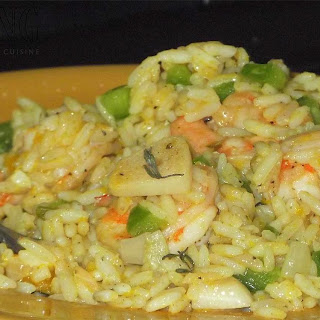"Shrimp & Pumpkin ""Fried Rice"""