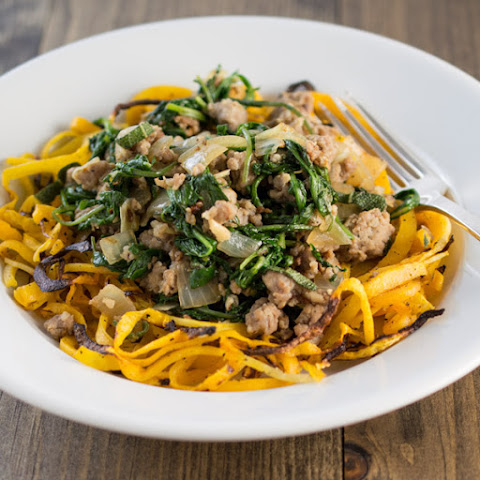 Sausage and Kale over Butternut Noodles