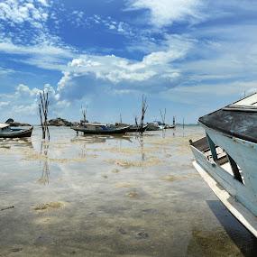 Mirror by Jenni Ertanto - Transportation Boats ( water, blue sky, nature, boat, landscape )