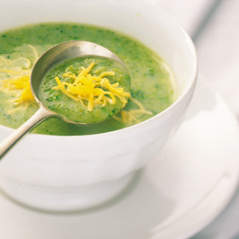 Broccoli Soup with Cheddar Cheese