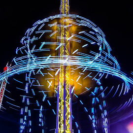 The Atmosfear amusement ride by Cory Bohnenkamp - Abstract Light Painting ( ride, light painting, amusement ride, atmosfear, fair )