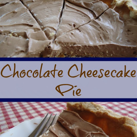 Chocolate Cheesecake Pie ~ Real Food Ingredients Make Real Good Treats