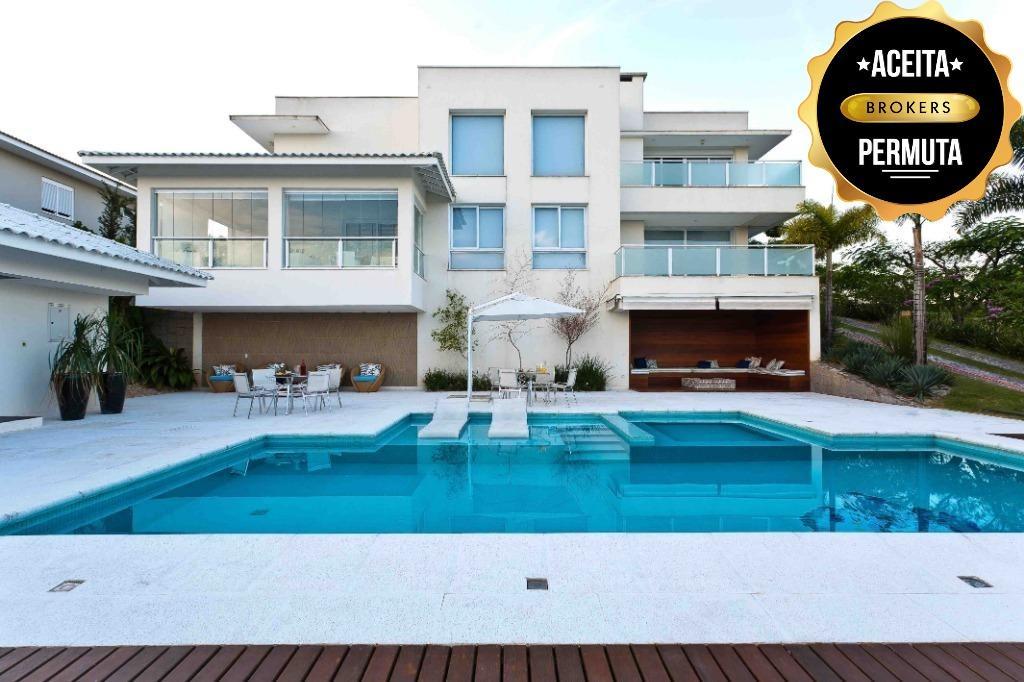 Sobrado com 4 dormitórios à venda, 690 m² por R$ 4.500.000 - Ville Chamonix - Itatiba/SP
