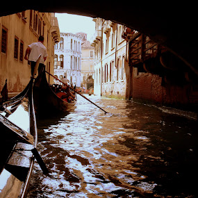 Venice by Leif Holmberg - Transportation Boats ( gondola, venice, boat, channel, italy, , water, device, transportation )