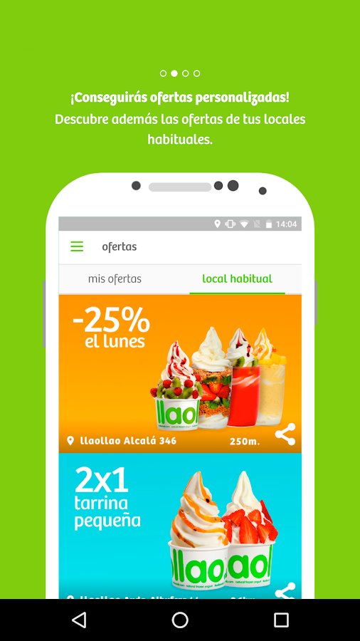 llaollao. Screenshot 1