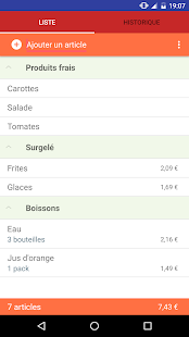 Une Liste de Courses - screenshot