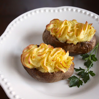Individual Shepherd's Pies in Baked Potatoes