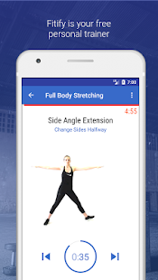 Stretching & Flexibility Routines by Fitify Fitness app screenshot for Android