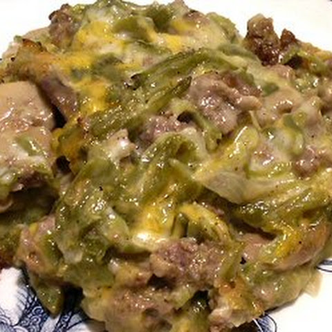 GREEN BEAN AND HAMBURGER CASSEROLE