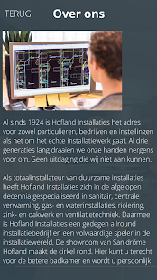 Hofland Installaties - screenshot
