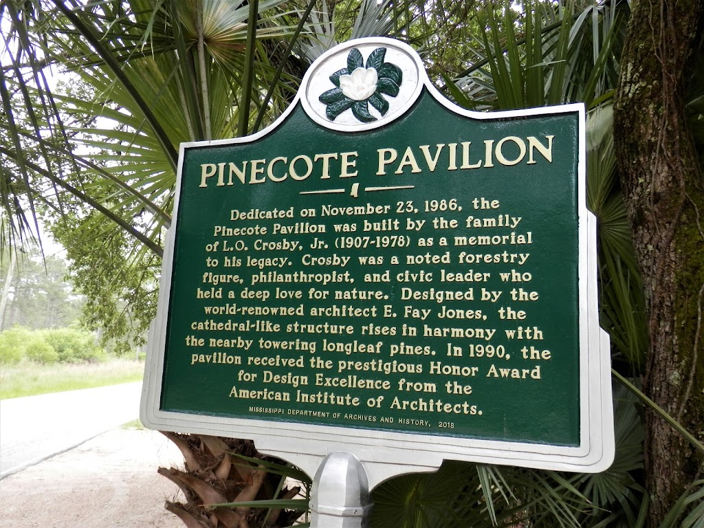 Dedicated on November 23, 1986, the Pinecote Pavilion was built by the family of L.O. Crosby, Jr. (1907-1978) as a memorial to his legacy. Crosby was a noted forestry figure, philanthropist, and ...