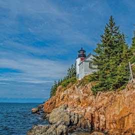 Bass Harbor Lighthouse by Roy Walter - Landscapes Travel ( water, bass harbor, maine, acadia national park, rocks )