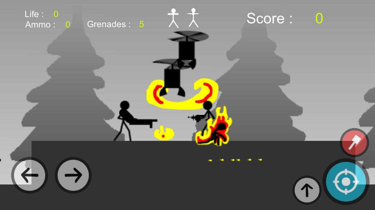 Stickman Gun - Metal Solider Slug Screenshot 0