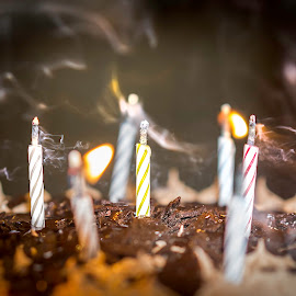 Birthday Time!! by Matt Pranger - Abstract Fire & Fireworks ( birtdhay, cake, candle, chocolate, birthday candles, candles, sparks, spark, fire )