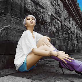 Beauty in Borobudur by Nikon  Koesukax - People Portraits of Women ( borobudur )