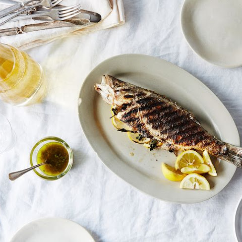 Grilled Branzino with Rosemary Vinaigrette Recipe | Yummly