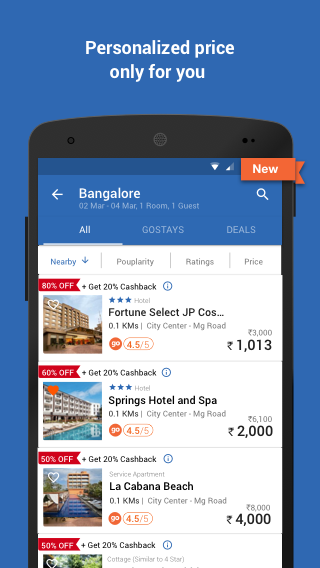 Goibibo: Book Hotel Flight Bus Screenshot 2