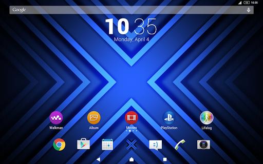 XNeon-Blue-Xperia Theme - screenshot