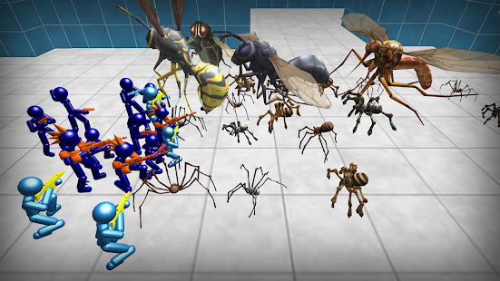 Stickman Spiders Battle Simulator