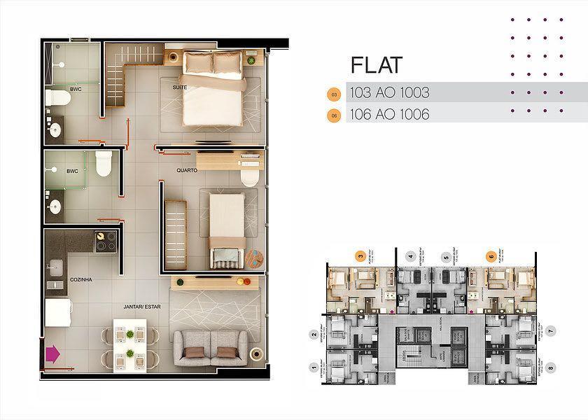 Flat residencial à venda, Tambaú, João Pessoa - FL0067.