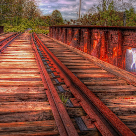 by Edward Allen - Transportation Railway Tracks