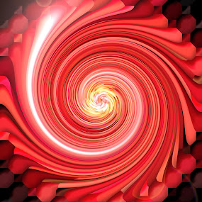 Abstract background by Alesanko Rodriguez - Illustration Abstract & Patterns ( abstract, visual effects, red, colorful, illustration, background, art, wave, coloring, twirl, design )