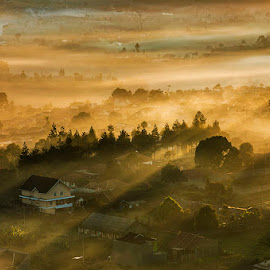 Silent Morning by Deden Wahyuniman Mortir - Landscapes Mountains & Hills ( #morning #nikon #mist #hills #photooftheday #nature )
