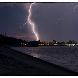 Storm at Danube by Vanja Vidaković - Landscapes Weather