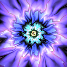 Flower 26 by Cassy 67 - Illustration Abstract & Patterns ( purple, abstract art, blue, wallpaper, digital art, bloom, flowers, fractal, digital, fractals, blossom, flower )