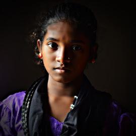 Kiran by Prasanta Das - Babies & Children Child Portraits ( girl, young, portrait )