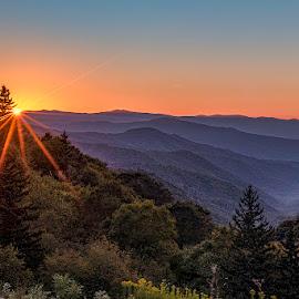 ---->>>>www.yohophotography.com<<<<---- by Jeremy Yoho - Landscapes Sunsets & Sunrises ( mountains, sunset, layers, sunstar, sunrise )