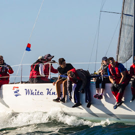 White Knight racing! by Ms Lyons Photography - Sports & Fitness Other Sports ( water sports, ocean racing, yacht racing )